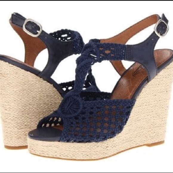 078ba0fe906 Lucky Brand Shoes - Lucky Brand Wedge Platform Sandals - Rilo Crochet